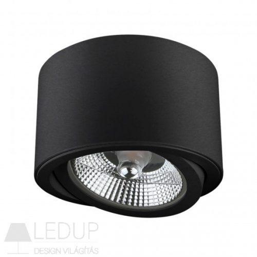 Design lámpa AR111 CHLOE kerek billenthető fekete SPECTRUMLED