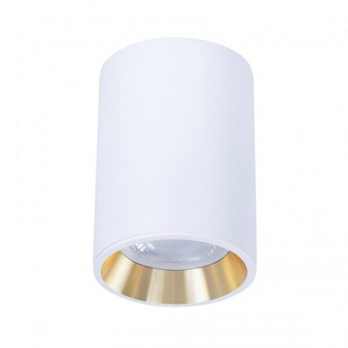 Design lámpa GU10 CHLOE MINI kerek, ház fehér, gyűrű arany, perem fehér SPECTRUMLED