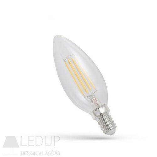 LED gyertya E14 230V 4W COG WW üveg SPECTRUMLED