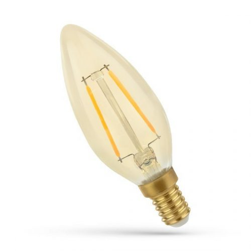 LED Gyertya E14 230V 2W COG WW RETRO SPECTRUMLED