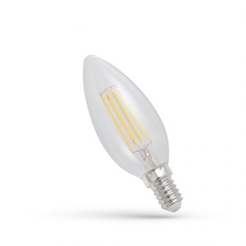 LED gyertya E14 230V 4W COG NW Üveg SPECTRUMLED