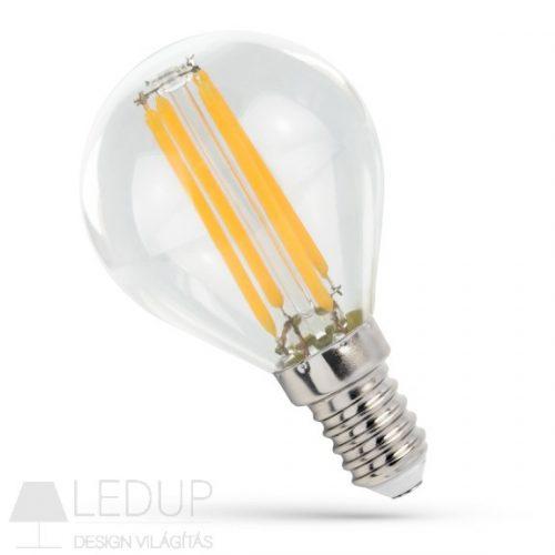 LED Kisgömb E14 230V 6W COG NW üveg SPECTRUMLED