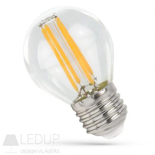 LED Kisgömb E27 230V 6W COG WW Üveg SPECTRUMLED