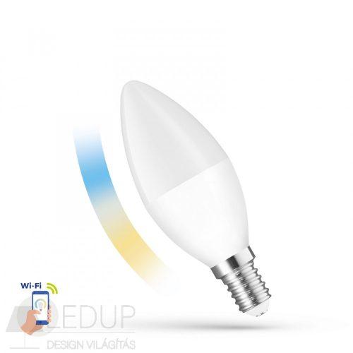 LED Gyertya E14 230V 5W CCT+DIM WI-FI - SMART SPECTRUMLED