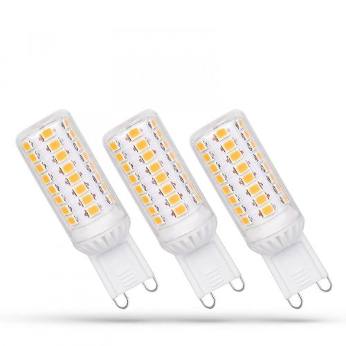 LED G9 230V 4W SMD CW DIMM 3-PACK SPECTRUMLED